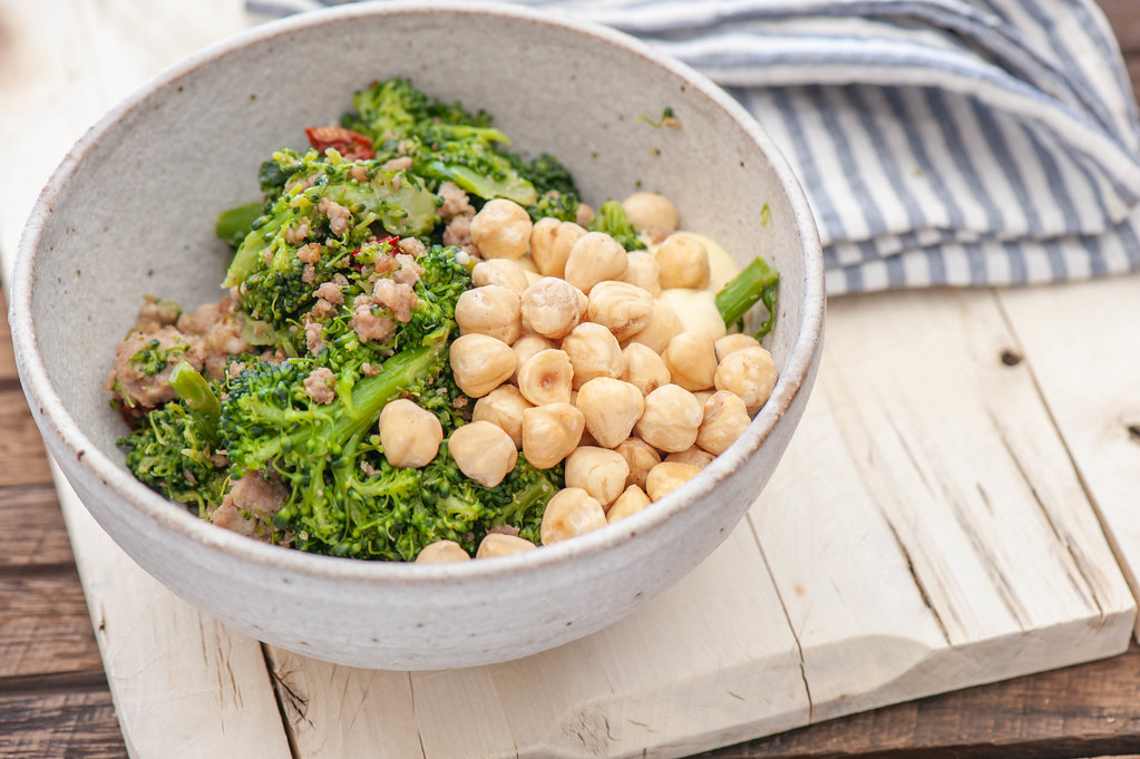 Sausage, Chilli & Broccoli Bowls
