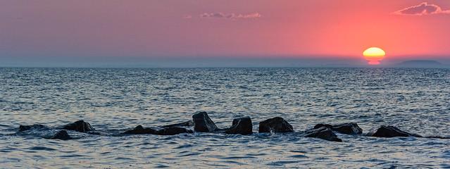 Lake Erie Sunset Pano