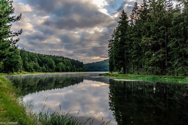 Ein herrlicher Morgen am Wasser