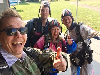 Dan, Marshall, me, and Nic after skydiving