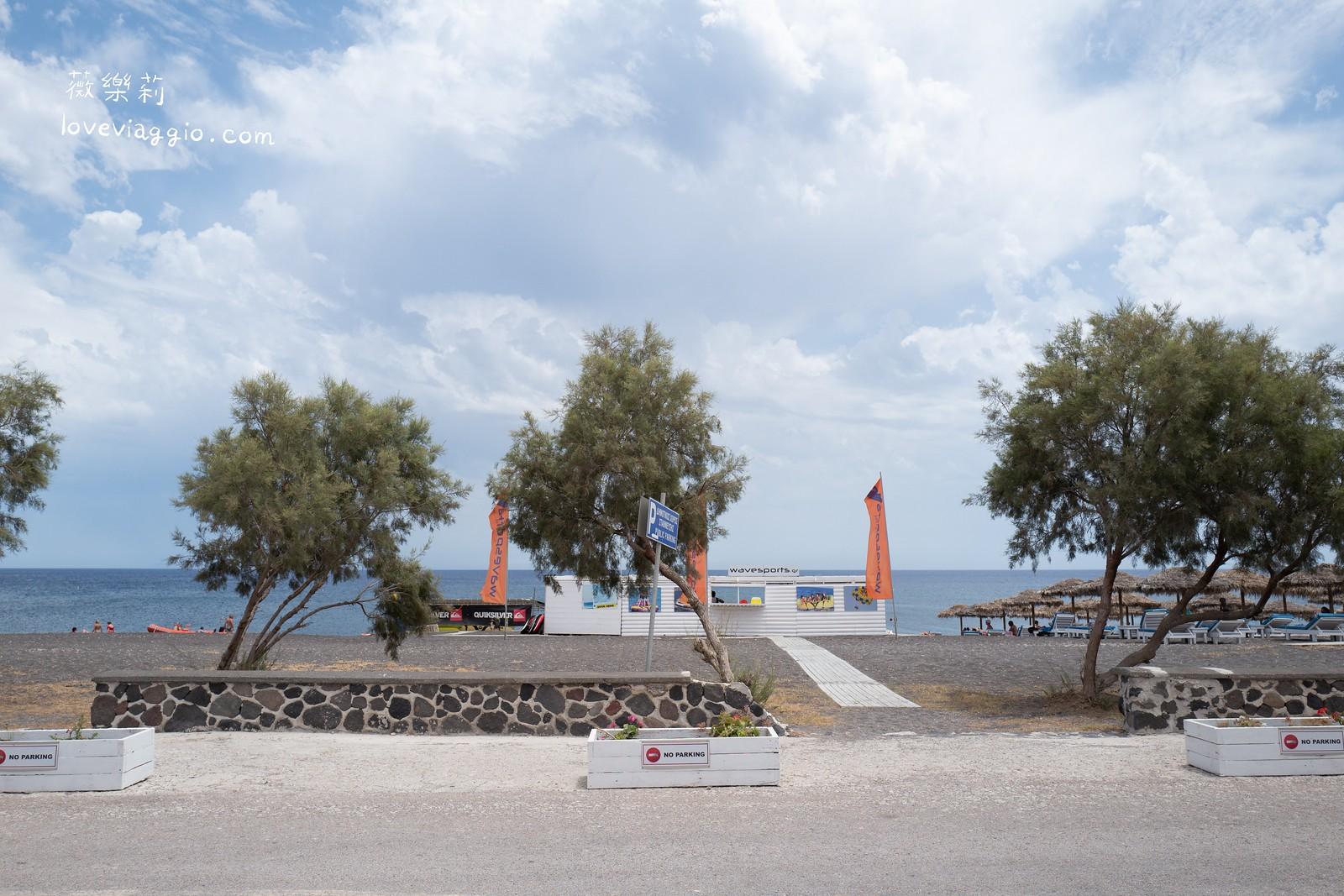 【希臘聖托里尼 Santorini】聖托里尼租車自駕環島|卡馬利Kamari、Perissa、紅沙灘、黑沙灘 @薇樂莉 Love Viaggio | 旅行.生活.攝影