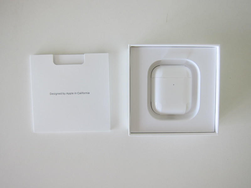 Apple AirPods (2019) With Wireless Charging Case - Box Open