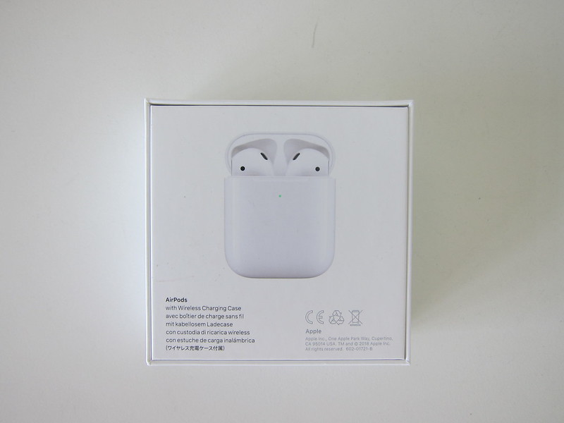 Apple AirPods (2019) With Wireless Charging Case - Box Back