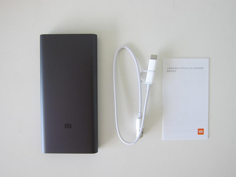 Xiaomi Mi 10,000mAh Power Bank (3rd Generation) - Box Contents