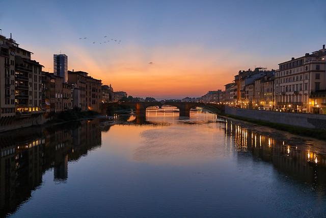 L'Arno - Firenze, Italia