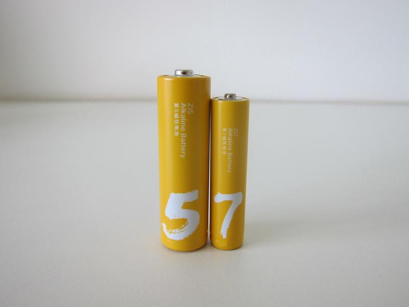 Xiaomi Alkaline Batteries - AA vs AAA