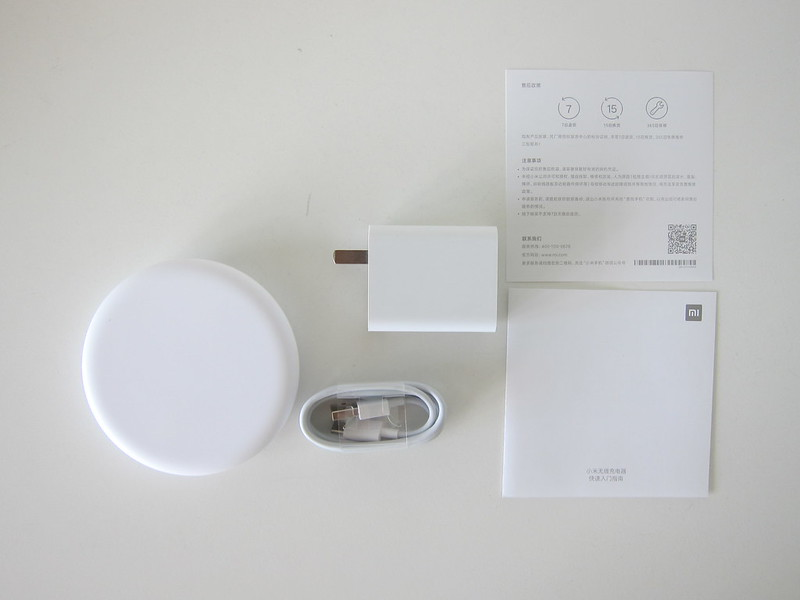 Xiaomi 20W Wireless Charger Set - Box Content