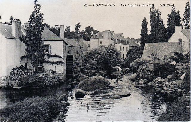 Pont-Aven, cité des peintres vers 1910