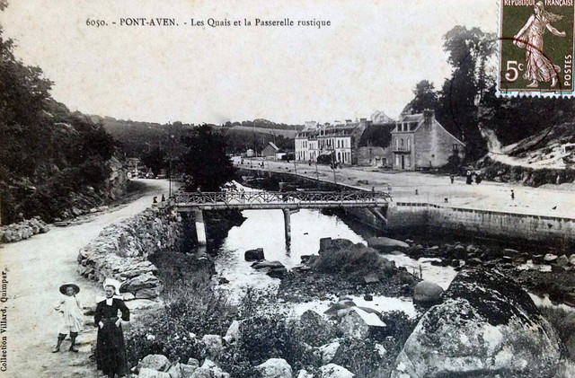 Pont-Aven, cité des peintres vers 1912