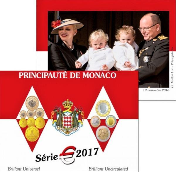 Oficiálna sada Euro mincí Monako 2017