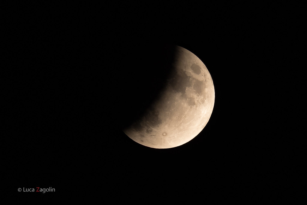Partial moon eclipse - 50th anniversary moon landing