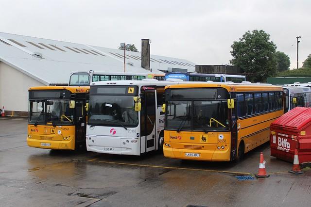 Midland Bluebird Ltd - 68561 - HX55AOJ, 20362 - CV55AFA & 68558 - LK55ABU; Bannockburn Depot; 20-07-2019