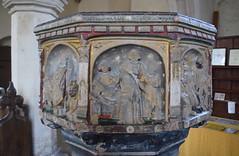 seven sacrament font: Last Rites (15th Century)