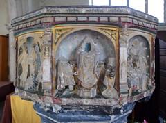 seven sacrament font: Mass (15th Century)