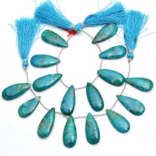 RARE BLUE CHRYSOCOLLA Pear Beads