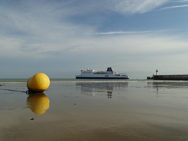 Reflets sur la plage de Blériot Plage.