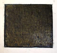 Thomas Plantaganet (1602 brass inscription)