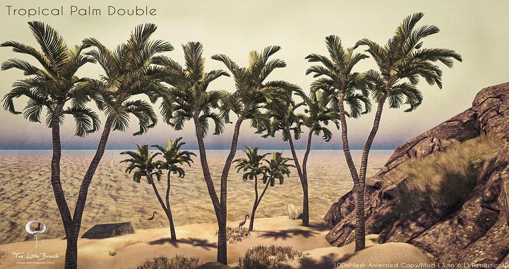 Little Branch Tropical Palm Double