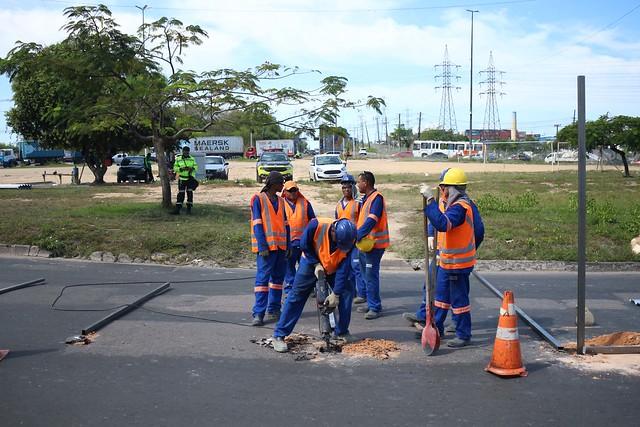 20.07.19 Início das obras na rotatória da Samsung, Distrito Industrial