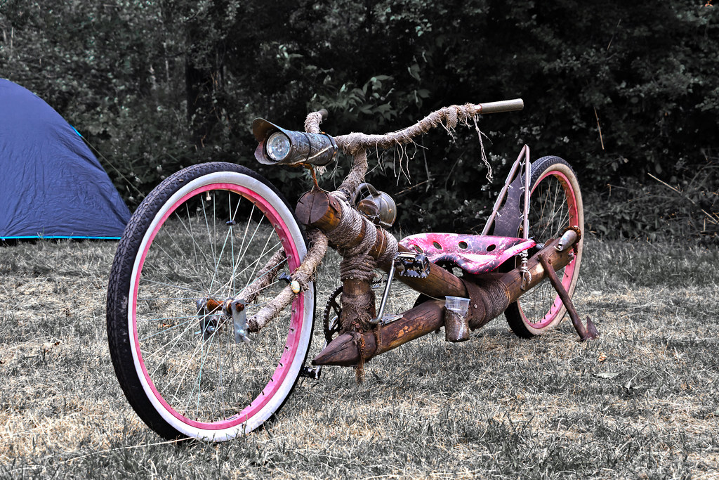Wooden 'drag' bicycle ... (6504)