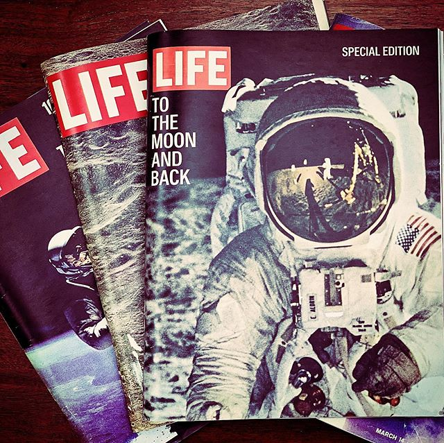 What a day to remember- July 20, 1969. Wow. Still in awe 50 years later. These LIFE magazines were on display at Draper Laboratories 👨🚀 🌙 🚀 ⭐️ 👩🚀 #wehackthemoon #lifemagazine #apollo11 #draperlabs #draperlaborato