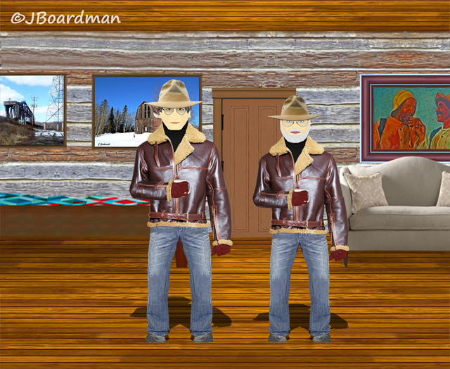 Boomer & Big A in Boomer's Cabin ©Jack Boardman