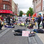 Extinction Rebellion march through Preston in climate change protest
