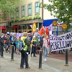 Extinction Rebellion march through Preston in climate change protest