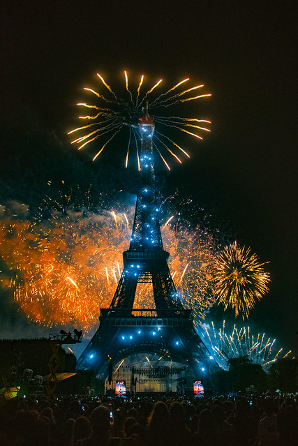 This is the Greatest Show...Vive La France  ! Feu d'artifice ,Tour Eiffel ; 14 juillet 2019, Fête nationale Paris. No. 532.