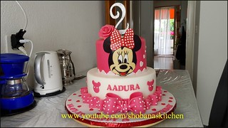 Minnie mouse cake / cake decorating tutorial