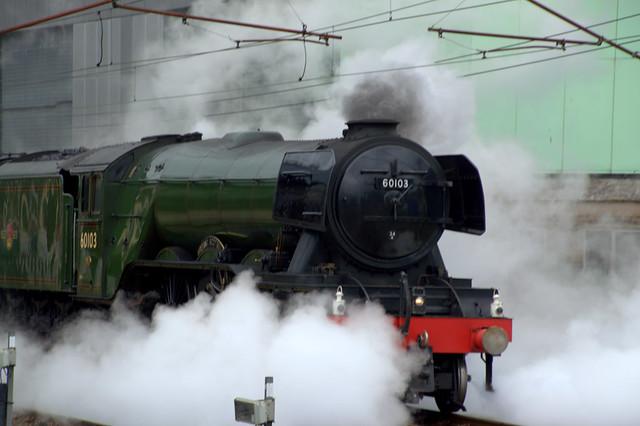 Flying Scotsman steam train in Preston