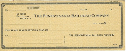 Pennsylvania Railroad check