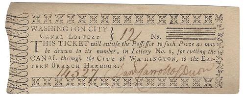 Lottery Ticket City of Washington