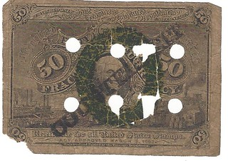 Counterfeit fractional note front