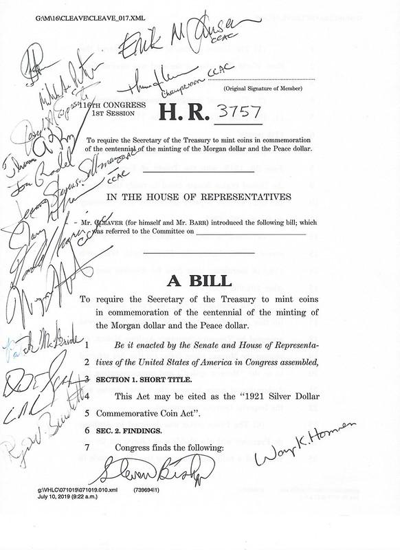 2021 Silver Dollar legislation