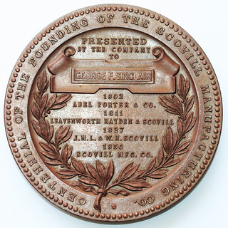 1802-1902 Scovill Manufacturing Company Medal reverse