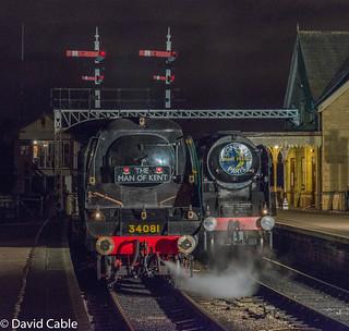 34053 and 34081 at Wansford