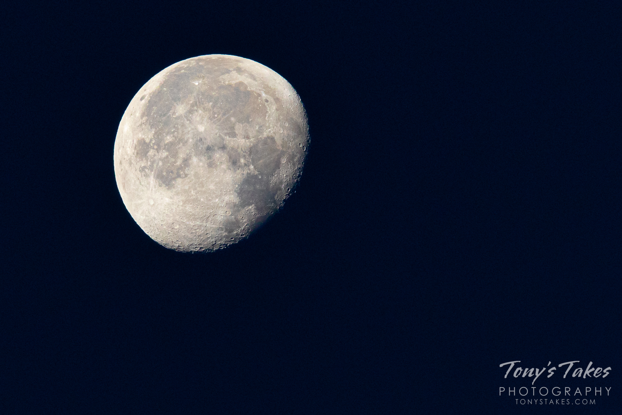 The moon on the 50th anniversary of the Apollo 11 landing. (© Tony's Takes)