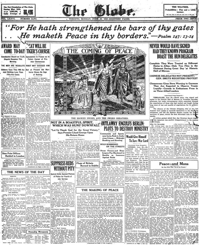 globe 1919-06-30 front page