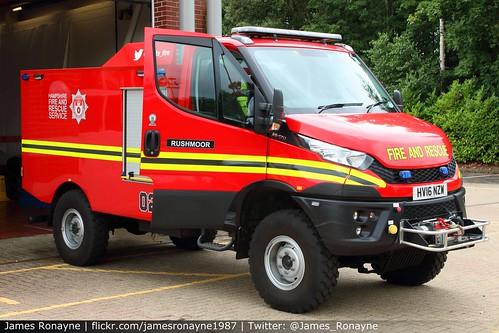 HV16 NZW   Iveco Daily Wildfire Unit   Hampshire Fire & Rescue