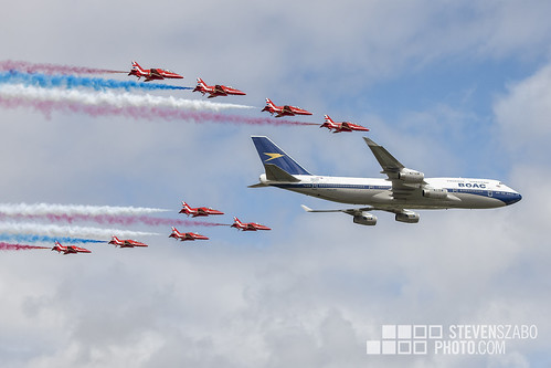 Red Arrows With BA | by Steven Szabo
