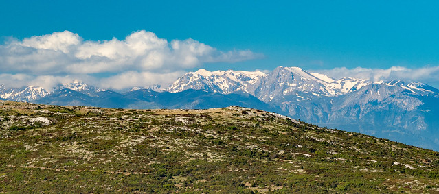 View of the mountains from Delphi