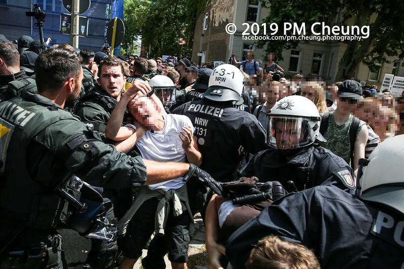 Proteste gegen die Identitäre Bewegung (IB) - Identitäre in Halle? – Nice to Beat You! – 20.07.2019 – Halle (Saale) – IMG_9951