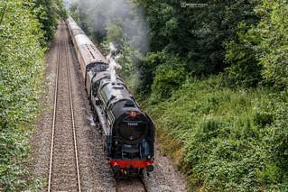 70000 Britannia passing through Caerleon