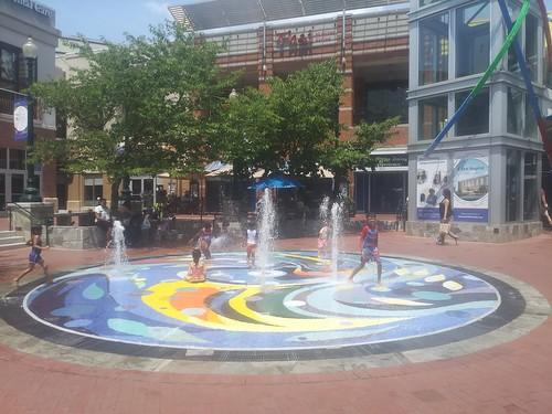 Splash Fountain, Downtown Silver Spring, Maryland
