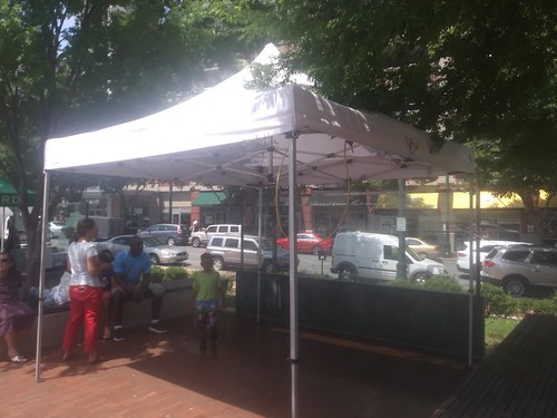 Water misting tent, Downtown Silver Spring Farmers Market