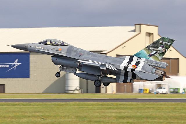 FA-124/GE-S  -  General Dynamics F-16AM  -  Belgian Air Force  -  RIAT 2019