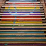 Rainbow stairway at U-Bahnhof Zoologischer Garten, Berlin
