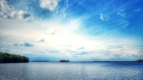 backwaters mississippiriver mississippi lockanddam flood water landscape sky clouds illinois midwest river