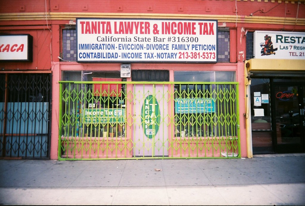 Festive lawyer and income tax - On Pico Blvd. in Los Angeles… - Flickr